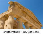 ancient greek temple against... | Shutterstock . vector #1079358551