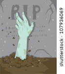zombie hand in grave | Shutterstock .eps vector #107936069