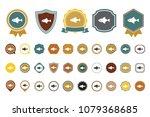 vector fish  icon | Shutterstock .eps vector #1079368685