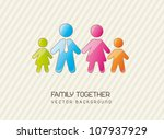 family together over vintage... | Shutterstock .eps vector #107937929