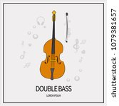 double bass  stringed plucked... | Shutterstock .eps vector #1079381657