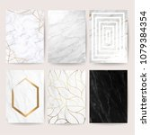 marble with golden texture... | Shutterstock .eps vector #1079384354