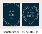luxury indigo wedding... | Shutterstock .eps vector #1079388041
