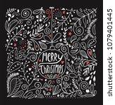 merry christmas vector cute... | Shutterstock .eps vector #1079401445