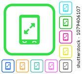 mobile pinch open gesture vivid ... | Shutterstock .eps vector #1079406107