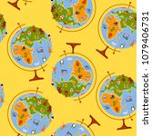 globe maps for children. back... | Shutterstock .eps vector #1079406731