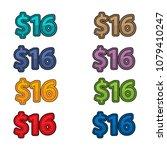 illustration vector of price 16 ...   Shutterstock .eps vector #1079410247
