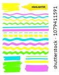 set of highlighter brush pen... | Shutterstock .eps vector #1079411591