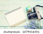 camera  notebook and... | Shutterstock . vector #1079416451