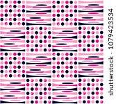 abstract elliptical polka dot... | Shutterstock .eps vector #1079423534