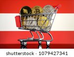 shopping trolley full of... | Shutterstock . vector #1079427341