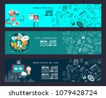 business concept banner for... | Shutterstock .eps vector #1079428724