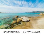 rocks and turquoise water in... | Shutterstock . vector #1079436605