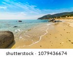 golden shore in porto sa ruxi... | Shutterstock . vector #1079436674