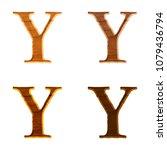 Natural Color Wooden Letter Y...