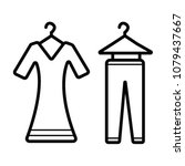 clothes icons  thin line style   Shutterstock .eps vector #1079437667