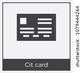 cit card icon isolated on white ... | Shutterstock .eps vector #1079444264