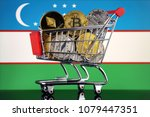 shopping trolley full of... | Shutterstock . vector #1079447351