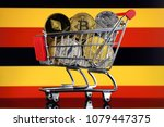 shopping trolley full of... | Shutterstock . vector #1079447375