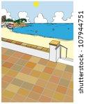 mediterranean beach tourism... | Shutterstock .eps vector #107944751