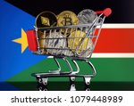 shopping trolley full of... | Shutterstock . vector #1079448989