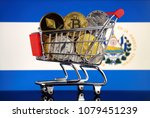 shopping trolley full of... | Shutterstock . vector #1079451239