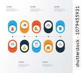 garment icons colored line set... | Shutterstock . vector #1079455931