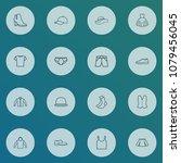 garment icons line style set... | Shutterstock .eps vector #1079456045