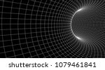tunnel or wormhole. abstract... | Shutterstock .eps vector #1079461841