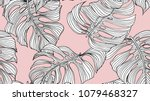 Floral Seamless Pattern  Black...