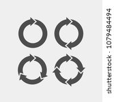 recycling flat vector icons set.... | Shutterstock .eps vector #1079484494