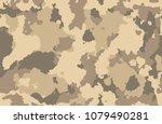 print texture military... | Shutterstock .eps vector #1079490281