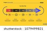 five arrow segments process... | Shutterstock .eps vector #1079499821