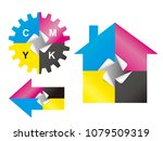 color print sticker design... | Shutterstock .eps vector #1079509319