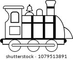 black and white train vector... | Shutterstock .eps vector #1079513891