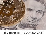 bitcoin cryptocurrency is... | Shutterstock . vector #1079514245