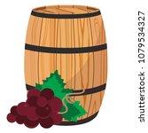 vector illustration red grapes... | Shutterstock .eps vector #1079534327