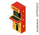 vector isometric retro arcade... | Shutterstock .eps vector #1079543615