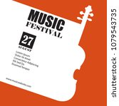 vector template for a concert... | Shutterstock .eps vector #1079543735