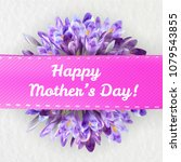 mothers woman day greeting card ... | Shutterstock .eps vector #1079543855