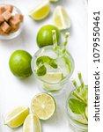 summer refreshing cocktail... | Shutterstock . vector #1079550461