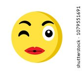 kiss emoji icon isolated on... | Shutterstock .eps vector #1079551691