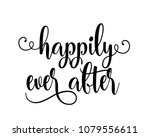wedding typography script word... | Shutterstock .eps vector #1079556611