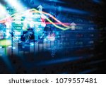 stock market and global network ... | Shutterstock . vector #1079557481