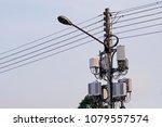 micro cellular 3g  4g  5g. base ... | Shutterstock . vector #1079557574
