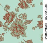vector floral seamless pattern... | Shutterstock .eps vector #1079558681