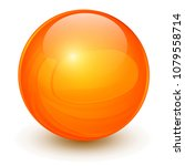 orange sphere  3d vector ball. | Shutterstock .eps vector #1079558714