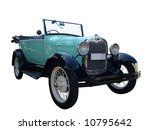 1928 Vintage Car Isolated With...