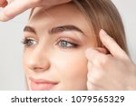 young woman having professional ... | Shutterstock . vector #1079565329
