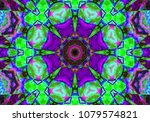 psychedelic background. color... | Shutterstock . vector #1079574821
